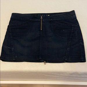 Juicy Couture dark denim mini skirt